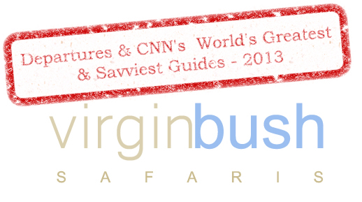 Departures & CNN's  World's Greatest & Savviest Guides, 2013. VirginBush Safaris - takes clients to the real Africa, not the package-tour version.